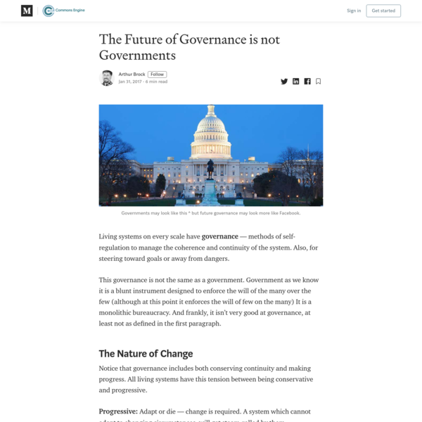 The Future of Governance is not Governments