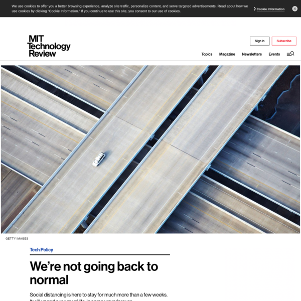 We're not going back to normal - MIT Technology Review