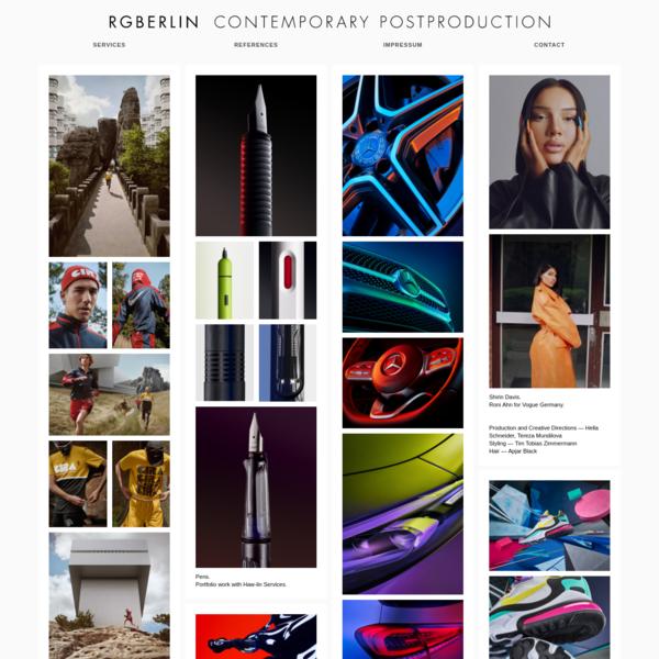 RGBERLIN   Contemporary Postproduction