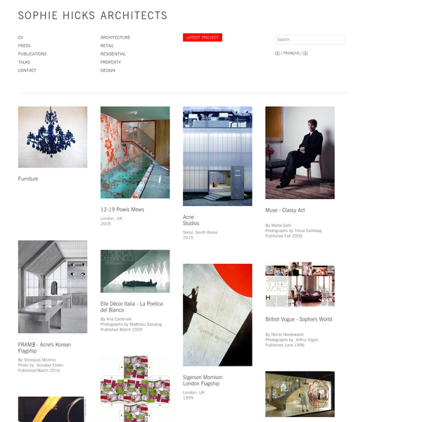 SOPHIE HICKS | ARCHITECTS, London.
