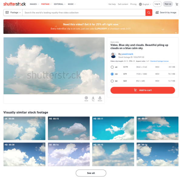 Video, Blue Sky and Clouds. Stock Footage Video (100% Royalty-free) 1026709130 | Shutterstock