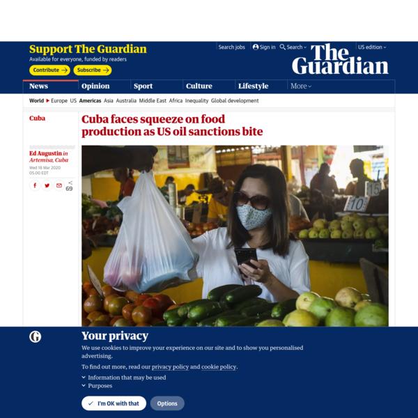 Cuba faces squeeze on food production as US oil sanctions bite