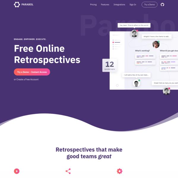 Free Online Agile Retrospective Meeting Tool | Parabol