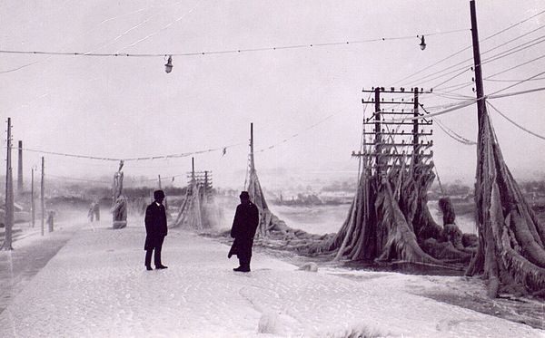 1800's images of telephone lines