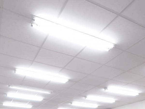 fluorescent office lighting