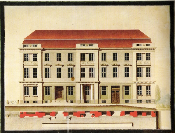 Old Stock Exchange, side facade, 1799