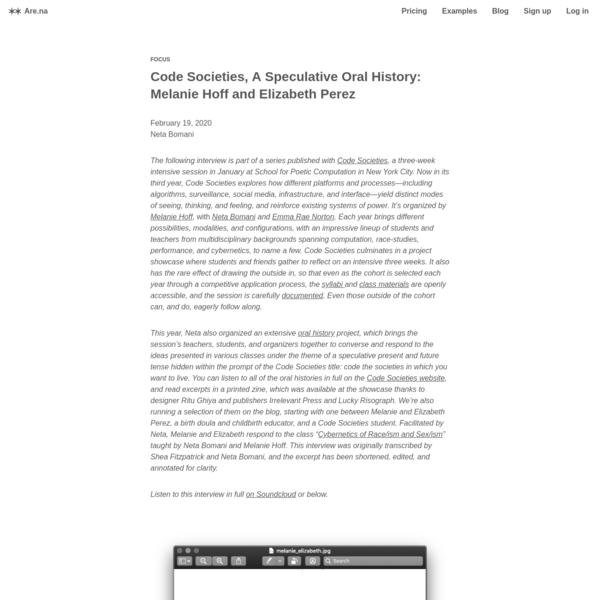 Are.na / Code Societies, A Speculative Oral History: The Cybernetics of Reproduction
