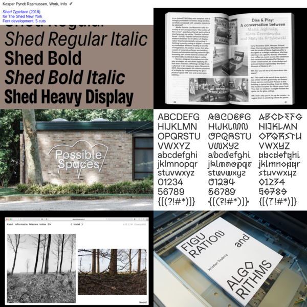 Typographicalities by Kasper Pyndt Rasmussen