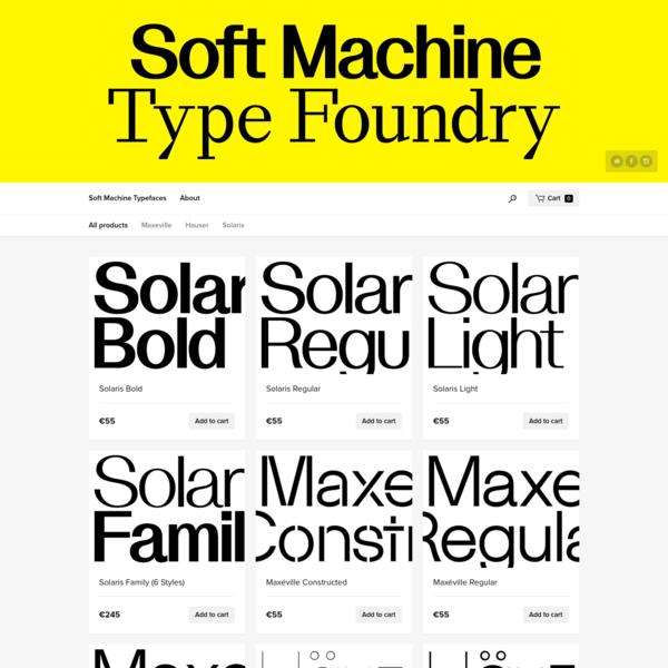 Soft Machine Typefaces