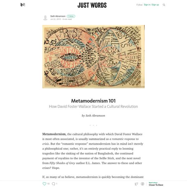 Metamodernism 101 - Just Words