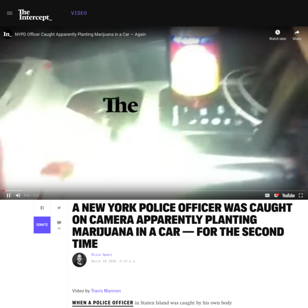 NYPD Officer Caught Appearing to Plant Marijuana in a Car — Again