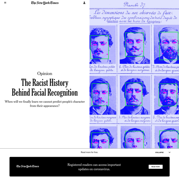 Opinion | The Racist History Behind Facial Recognition