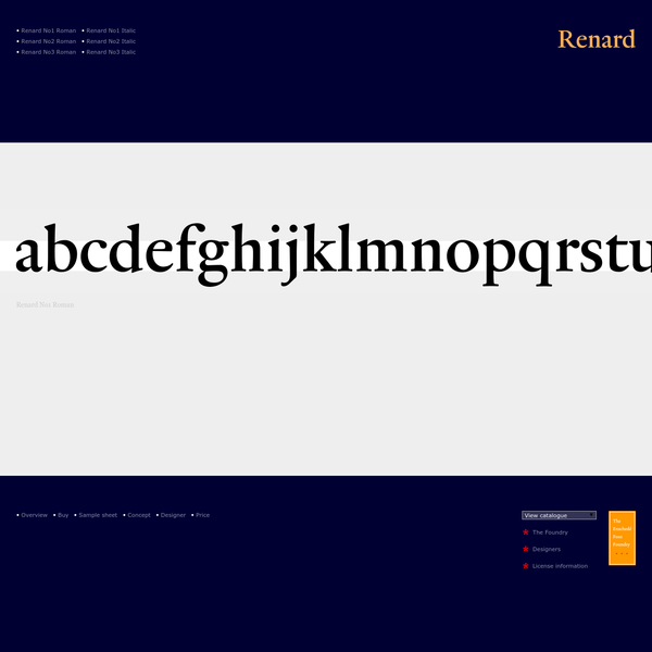 The Enschede Font Foundry: Renard designed by Fred Smeijers