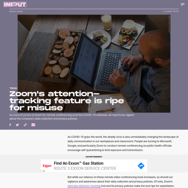 Zoom's attention-tracking feature is ripe for misuse