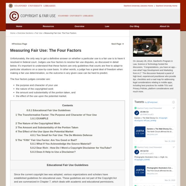 Measuring Fair Use: The Four Factors