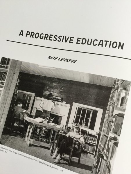 "(More on the maker-infused education at Black Mountain College in ""A Progressive Education,"" by Ruth Erickson) 1/2pic.twitter.com/XChe85KAdW"