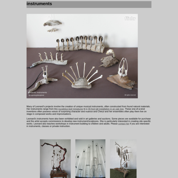 Cheryl Leonards Instruments