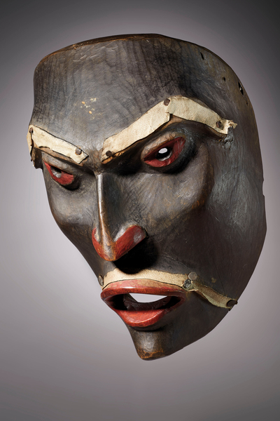 A Tsimshian wooden mask representing the spirit of the Upper Air. 19th century AD, from British Columbia, Canada.