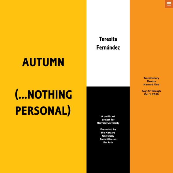 Teresita Fernández: Autumn (...Nothing Personal)