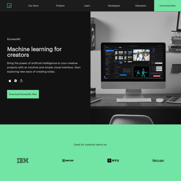 RunwayML | Machine learning for creators.