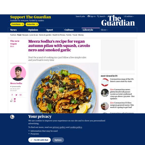 Meera Sodha's recipe for vegan autumn pilau with squash, cavolo nero and smoked garlic