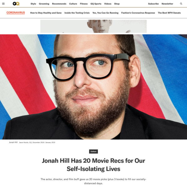 Jonah Hill Has 20 Movie Recs for Our Socially-Distanced Lives
