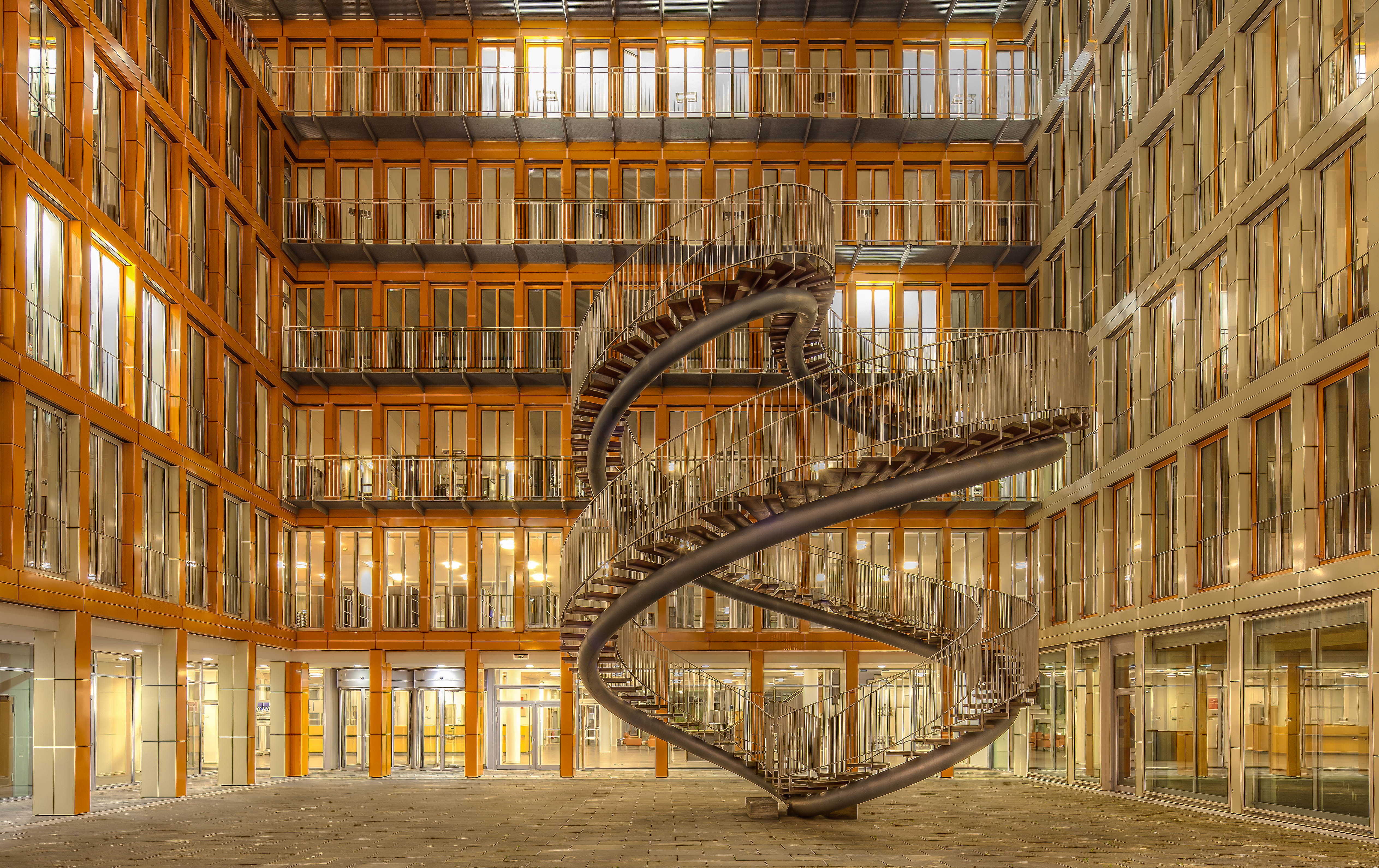 Are.na / Munich Germany Library Unique Architecture Stairs  Photo Hd Wallpaper