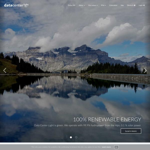 Data Center Light - Green & Secure Swiss Virtual Machine