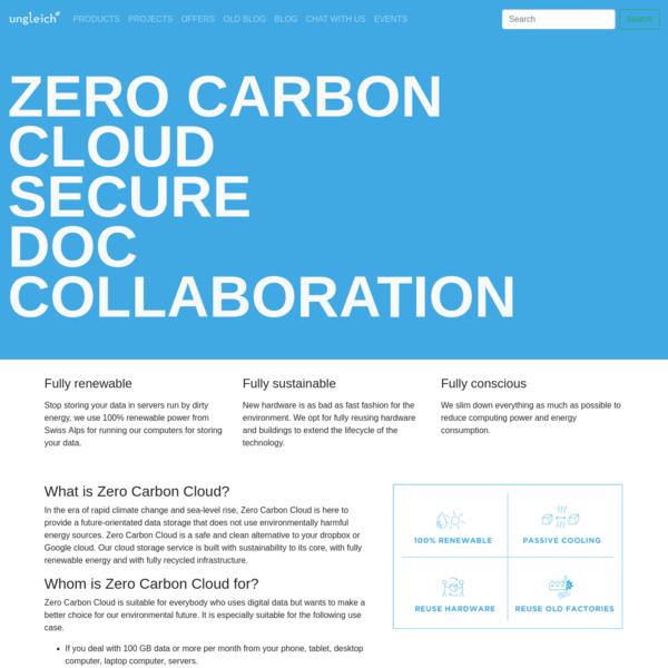 ungleich.ch - Zero Carbon Cloud