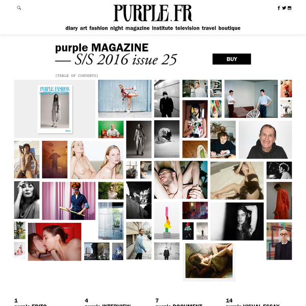 Purple has readapted the content from the past 10 years of our almost 25-year publishing history to a new, online format, available to read for free.