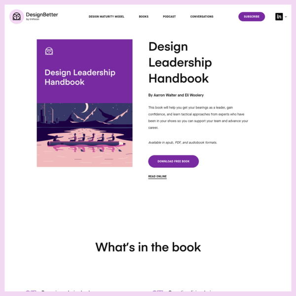 Design Leadership Handbook-from DesignBetter.Co