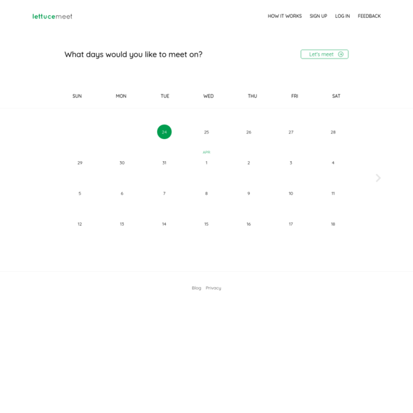 LettuceMeet - Easy Group Scheduling