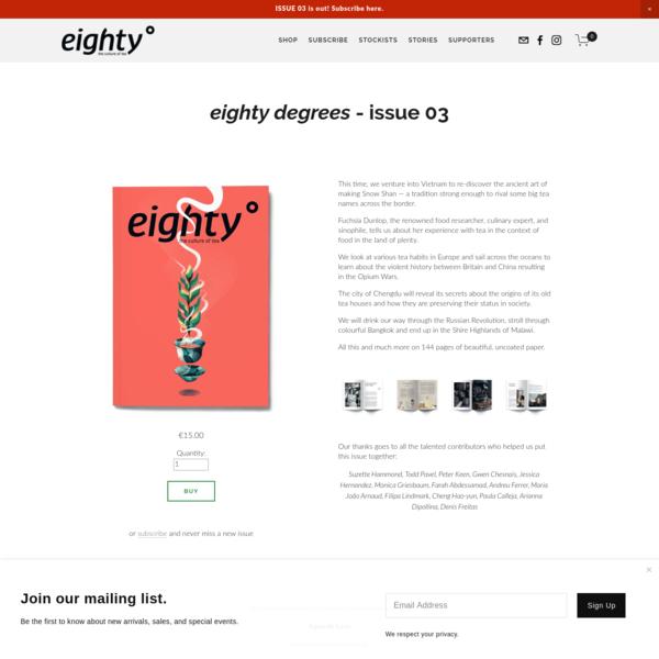 Issue 03 - eighty degrees magazine