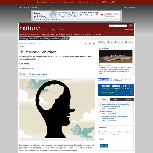 Neuroscience: Idle minds