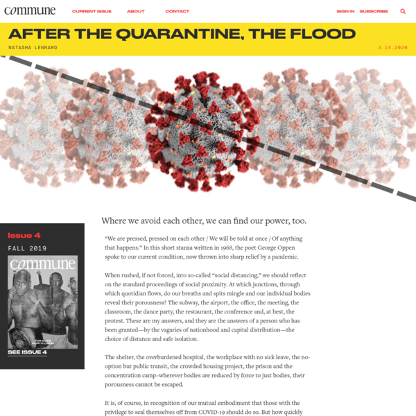 After the Quarantine, the Flood   Commune