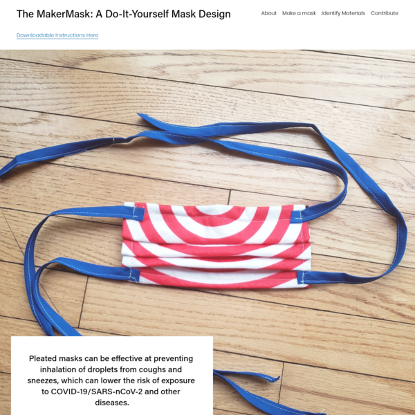 The MakerMask: A Do-It-Yourself Mask Design