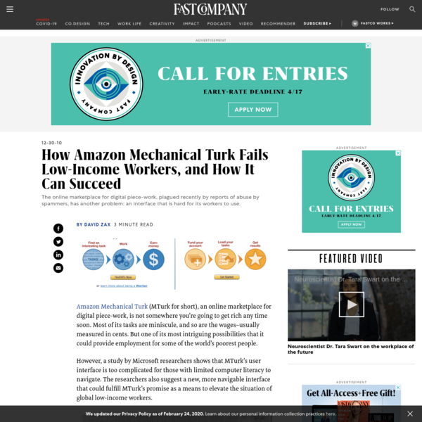 How Amazon Mechanical Turk Fails Low-Income Workers, and How It Can Succeed