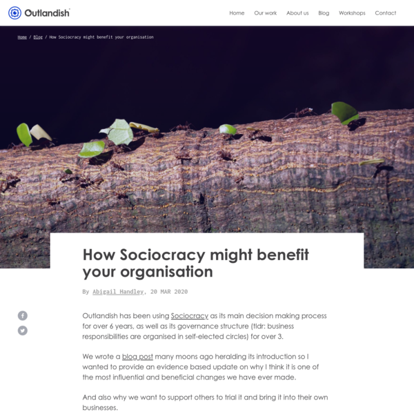 How Sociocracy might benefit your organisation