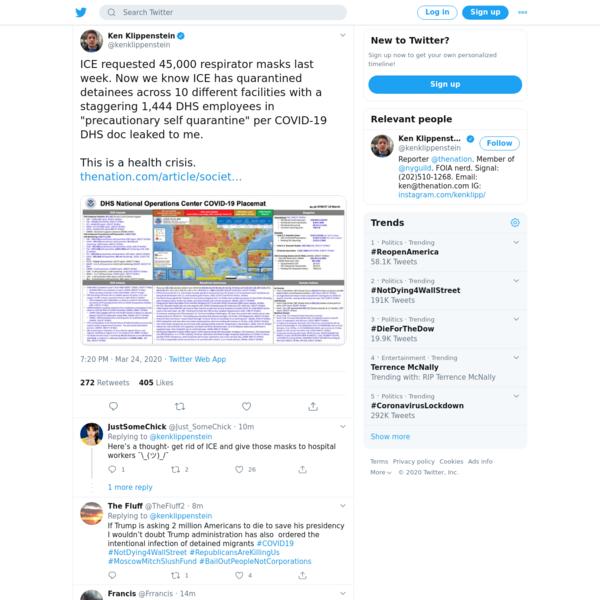 Ken Klippenstein on Twitter