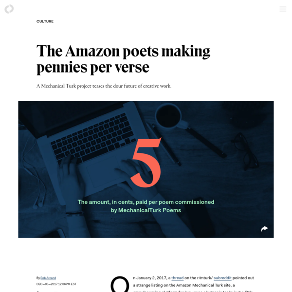 The Amazon poets making pennies per verse