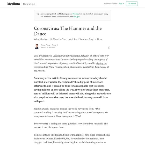 Coronavirus: The Hammer and the Dance