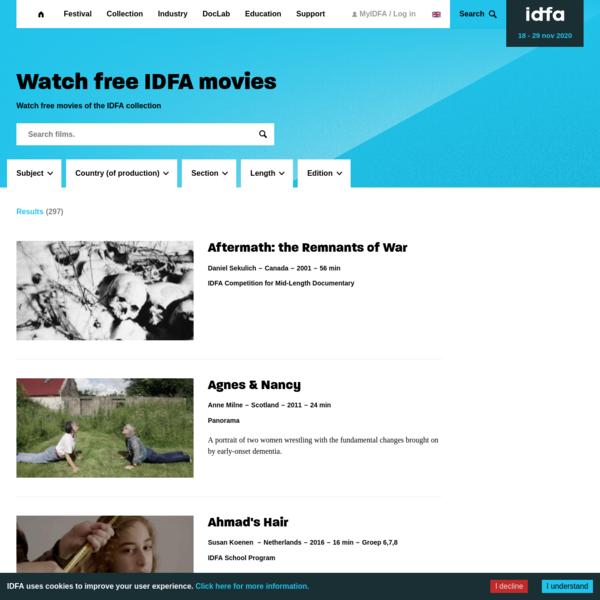 Watch free IDFA movies   IDFA
