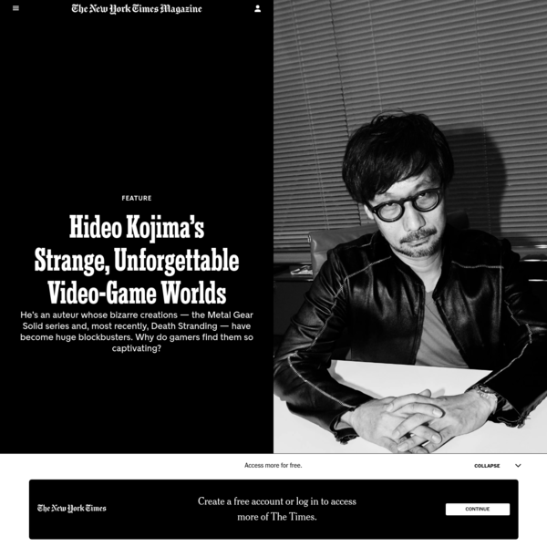 Hideo Kojima's Strange, Unforgettable Video-Game Worlds