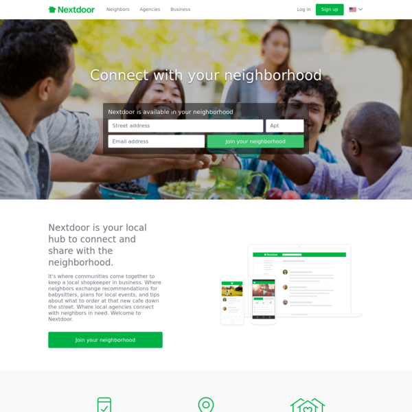 Nextdoor is the neighborhood hub for trusted connections and the exchange of helpful information, goods, and services. Join ...