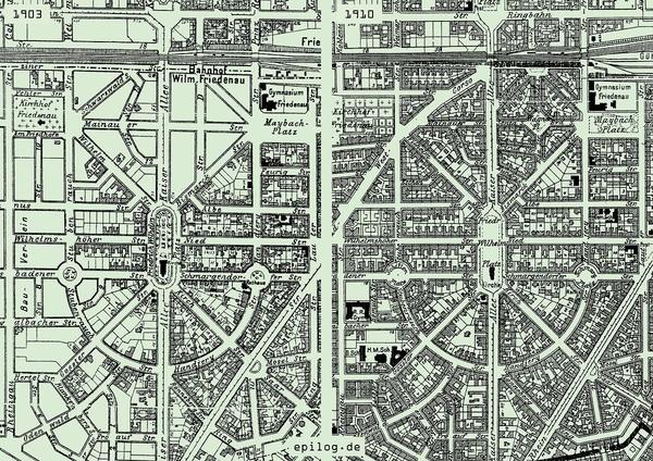 Friedenau, 1903 & 1910