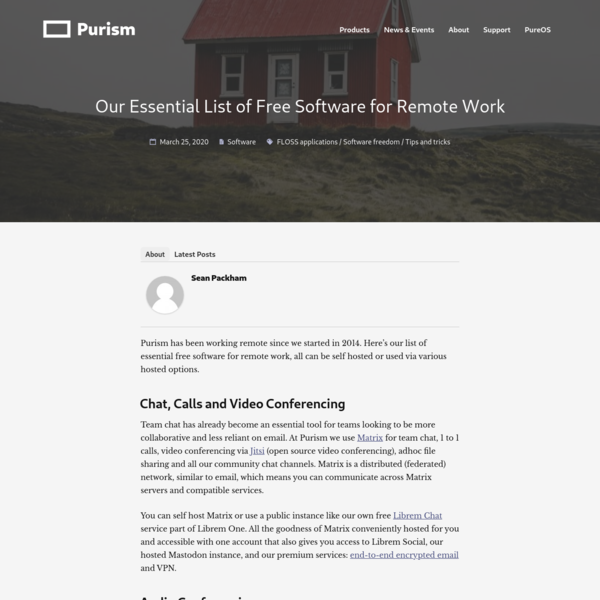 Our Essential List of Free Software for Remote Work - Purism