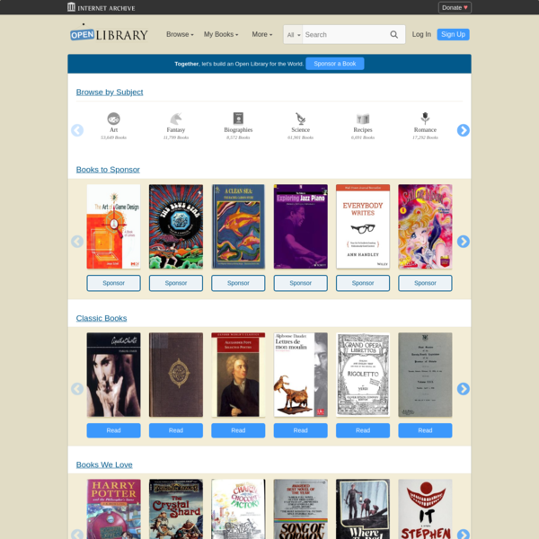 Welcome to Open Library | Open Library