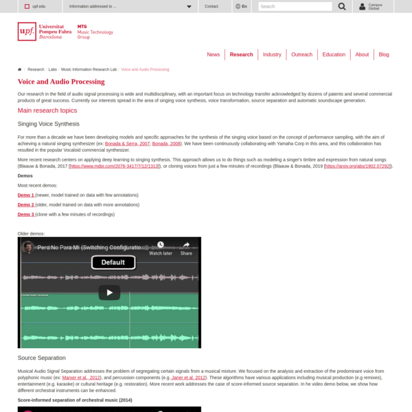 MTG - Music Technology Group