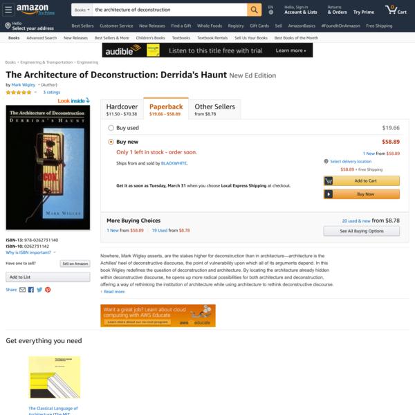 The Architecture of Deconstruction: Derrida's Haunt