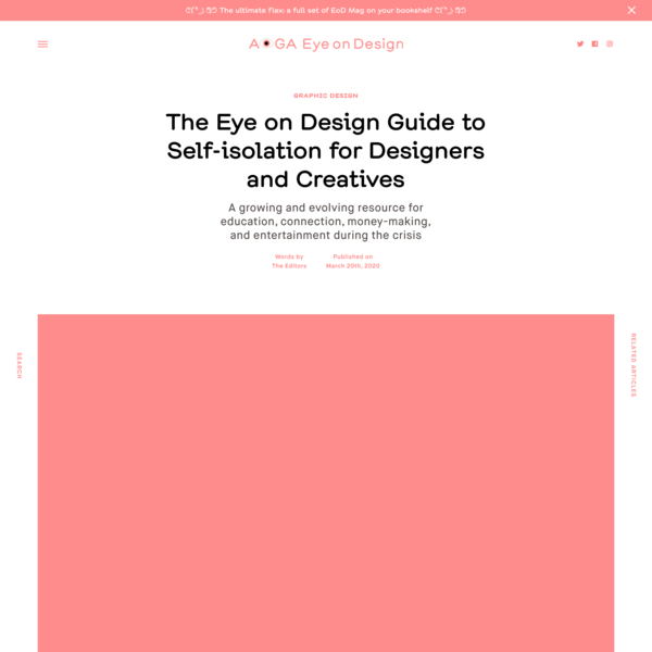 The Eye on Design Guide to Self-isolation for Designers and Creatives